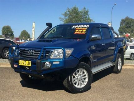 2015 Toyota Hilux KUN26R MY14 SR5 Double Cab Blue 5 Speed Automatic Utility Hillvue Tamworth City Preview