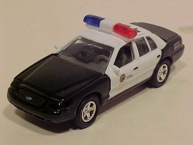 2 Pack of 1999 Ford Crown Victoria Police Diecast Car 1:60 Welly 3 inch LAPD