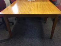 Dining table - dark wood, extends