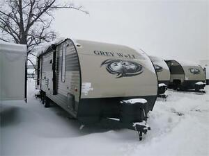 2017 FOREST RIVER GREY WOLF 26 CKSE, BUNKS, SLIDE! $25995!