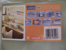 Dolle Glassline Shelf and 2 x Dolle Ara Shelf Brackets in white- NEW