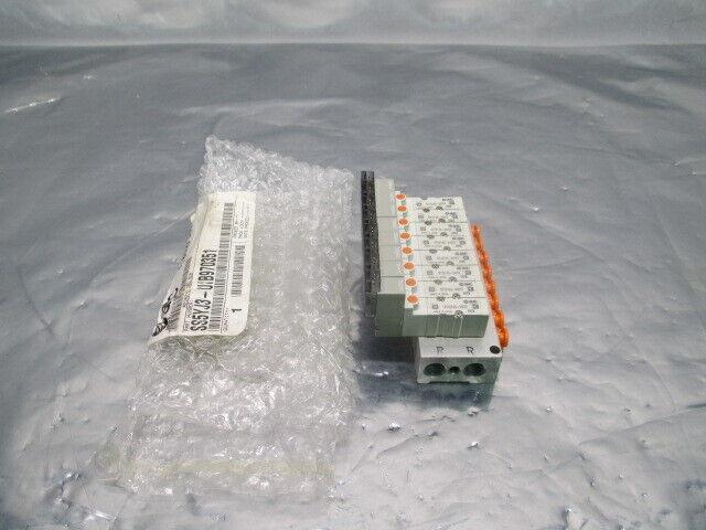 SMC SS5YJ3-UIB970351 Manifold Assy w/ 8 SYJ3140-5M0Z Valves, 100058