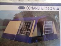 Quality Lichfield Comanche 6 berth frame tent, excellent condition with built in kitchen & extras.