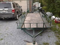 trailer with drop ramp