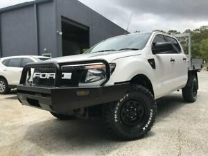 2015 Ford Ranger PX XL Double Cab White 6 Speed Sports Automatic Cab Chassis Arundel Gold Coast City Preview