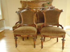 Antique  set of 4 chairs