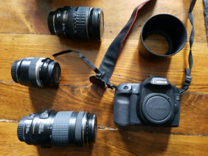 Canon EOS 50D w/ 3 lenses and backpack . Excellent condition