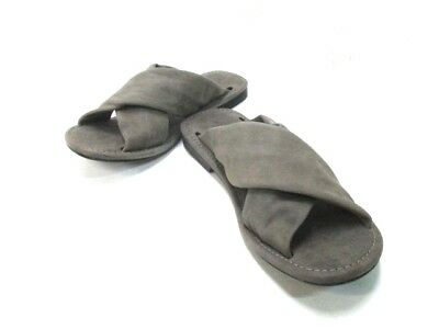 Auth OURET Gray-Beige Leather Men