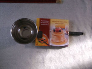 Pancake Maker & Mixing Stainless Steel Bowl New & More Wow