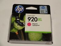 HP 920XL High Yield Magenta & Cyan Original Ink Cartridges (CD973AE and CD972AE) – new, boxed