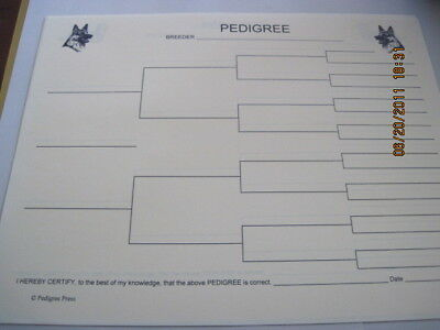 German Shepherd A Dog Blank Pedigree Sheets pack of 10