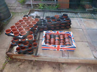 'Reduced' Flower Pots and Black Trays