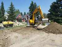 Underground utilities repair, mini excavator, skid steer, slab p