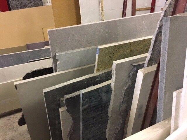 A variety of Granite, Marble & Quartz surplus stock for sale