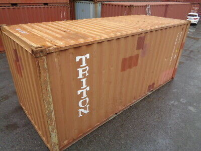 Used 20 Dry Van Steel Storage Container Shipping Cargo Conex Seabox St. Louis