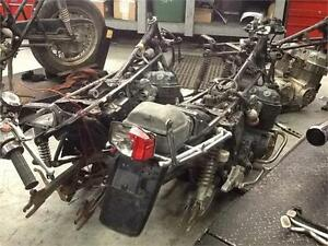 2 Honda CB750 SOHC frames and engines for parts or rebuild