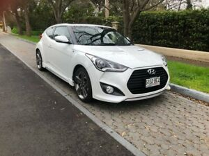 2014 Hyundai Veloster FS4 Series II SR Coupe Turbo White 6 Speed Manual Hatchback Hawthorn Mitcham Area Preview