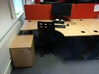corner desk 1600mm x 1200mm and chair
