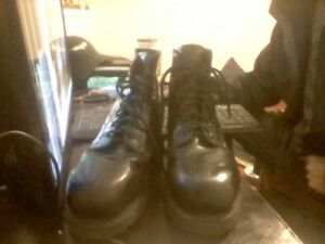 Vabram Black Leather Steel Toes 10 and a half