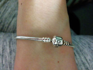 Authentic Pandora 925 sterling silver barrel clasp bracelet Windsor Region Ontario image 2
