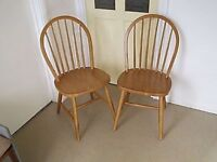 Pair of Kitchen Chairs, Sound and Tidy,