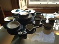 large collection of Wedgewood retro Blue Pacific crockery 52 pieces in excellent condition
