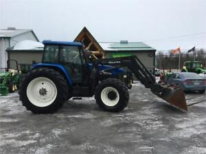 2006 NEW HOLLAND TM155 UTILITY TRACTOR WITH LOADER