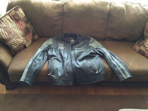 Mens 2xl leather Harley Davidson jacket