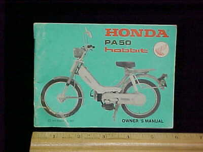 Vintage 1977 Honda Hobbit Moped PA50 Owners Manual with Wiring Diagram