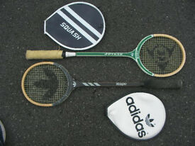 Two Squash Racquets