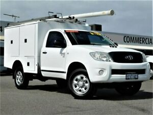 2010 Toyota Hilux KUN26R MY10 SR White 5 Speed Manual Cab Chassis Bibra Lake Cockburn Area Preview