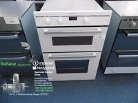 EX-DISPLAY WHITE INDESIT INTEGRATED DOUBLE OVEN REF: 13289