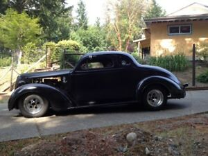 Rare All Steel '37 Plymouth Chopped 5 Window