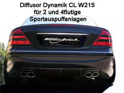 Mercedes CL W215 Diffusor Dynamik Für AMG Styling links & rechts 2x180 mm B