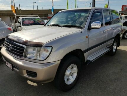 2002 Toyota Landcruiser 100 GXL Silver 4 Speed Auto Active Select Wagon Capalaba Brisbane South East Preview