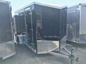 "Aluminum 6x12 Cargo Trailers Barn Doors 6'6"" Interior & More"