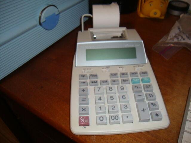 Sharp EL-1750P III 2-Color Printing Calculator Adding Machine - NO Power Supply