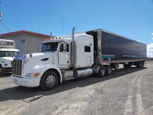 2007 Peterbilt 386 sleeper tractor with reefer trailer