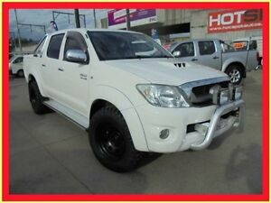 2009 Toyota Hilux KUN26R MY10 SR5 White 4 Speed Automatic 4D Utility Holroyd Parramatta Area Preview