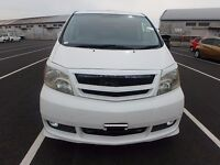 TOYOTA ALPHARD 8 SEATS / SEATER PETROL AUTO 2004, G EDITION, 12M NEW MOT,FULLY LOADED,FSH IMPORT