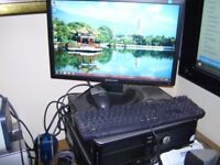 COMPUTER DELL OPTIPLEX 760 DESKTOP PC WINDOWS 7 21 INCH SCREEN SAMSUNG SCREEN ANTIVIRUS OFFICE VGC