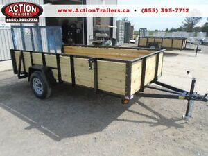 GET MORE SPACE WITH OUR 82''X12 UTILITY TRAILER W/HIGH SIDES