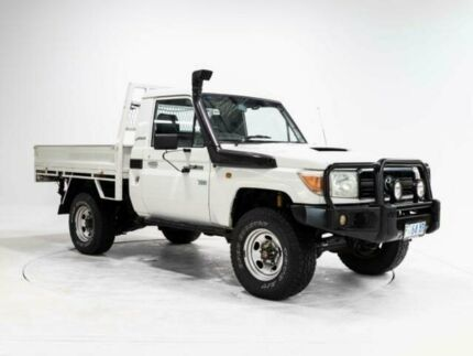 2007 Toyota Landcruiser VDJ79R Workmate (4x4) White 5 Speed Manual Cab Chassis Devonport Devonport Area Preview