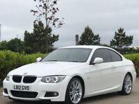 BMW 3 SERIES 2.0 320D M SPORT 2d AUTO 181 BHP (white) 2012