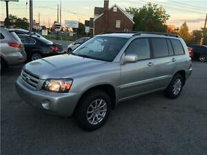 2005 TOYOTA HIGHLANDER 4WD 7SEAT  LEATHER CERTIFIED&E-TEST London Ontario image 1