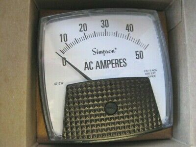 Simpson 47217 Electric Analog Panel Meter 0-50 Vac Big Vue Series