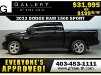 2013 DODGE RAM SPORT CREW *EVERYONE APPROVED* $0 DOWN $199/BW!
