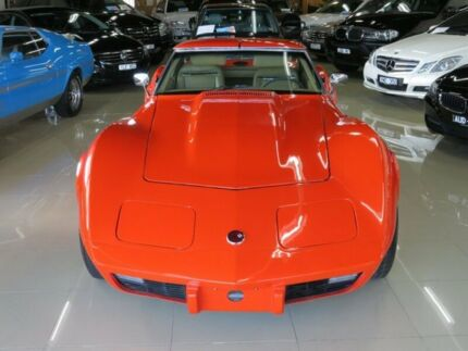 1975 Chevrolet Corvette C3 MY1975 Stingray Hugger Orange 3 Speed Automatic Targa Seaford Frankston Area Preview