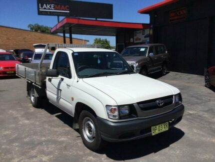 2002 Toyota Hilux RZN147R Workmate White Manual Utility