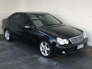 2005 Mercedes-Benz C200 Kompressor W203 MY2005 Sport Edition Black 5 Speed Sports Automatic Sedan